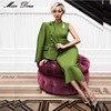 2016 New Fashion Women Irregular Neck Sleveless Hollow Out Bandage Dress Celebrity Party Mid Calf Green