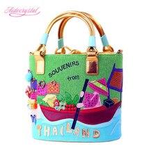 Aidocrystal neu kommen Heißer Qualität Rudern muster frauen Umhängetaschen Marke Designer-handtaschen Frauen tasche