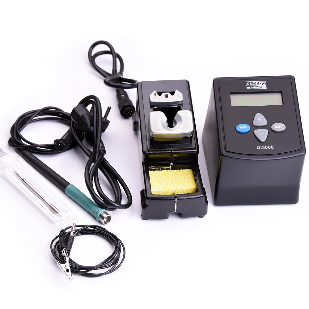75W DI3000 ESD Safe DI3000 Intelligent Digital Display Lead Free Soldering Station with C245 Solder Iron Tips esd safe 75w soldering handpiece t245a solder iron handle for di3000 intelligent soldering station