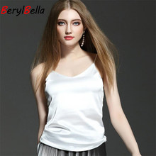 Tank Tops For Women Sexy Stain Sleeveless Vest Slim Solid Color Top Women Camis Backless Comfort silk Camisole Tops Femininas(China)