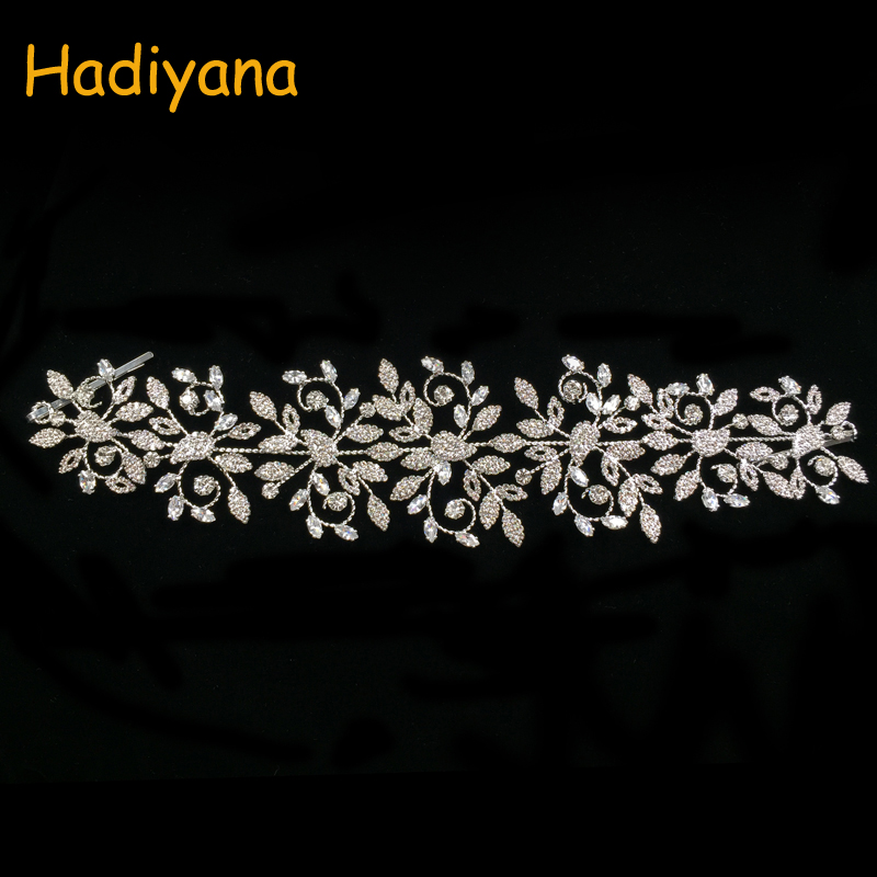 Hadiyana Fashion Ladies Wedding Headpieces With Rhinstones Wholesale Bridal Hair Accessories Headdress Bridal Hair Tiaras BC4523 with love hair 6a 13 4 withlove20150201