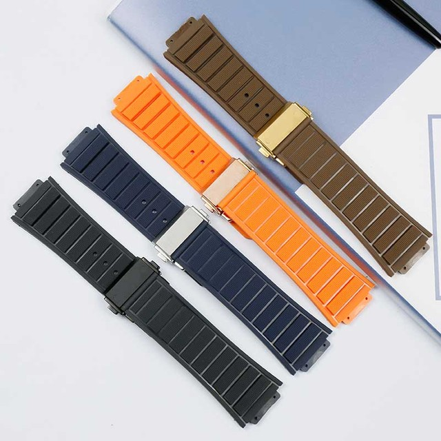 Rubber waterproof sweat-proof men's watch belt for Hublot casual series 29mmx19mm ladies silicone watch accessories watch band