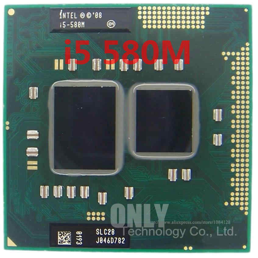 free intel i5-580M Processor (3M Cache, 2.66GHz ~ 3.33Ghz, i5 580M , SLC28 ) PGA988 Laptop CPU Compatible HM55 PM55 HM57 QM57