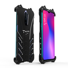R-just Cool Alloy Batman Case For Oppo R17 Pro Metal Armor Protective Cover Bumper Funda