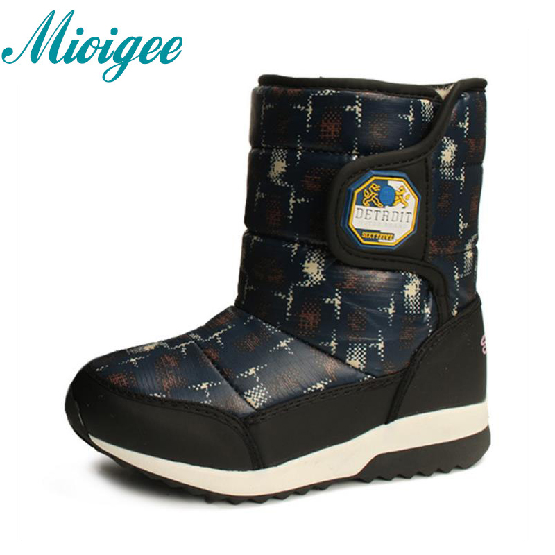 Mioigee 2017 winter kids warm snow boots children warm girls boot chaussure enfant hivers  Waterproof non-slip for boys shoes uovo kids snow boots girls boys warm winter snow boots flower fashion winter shoes children boys waterproof non slip shoes