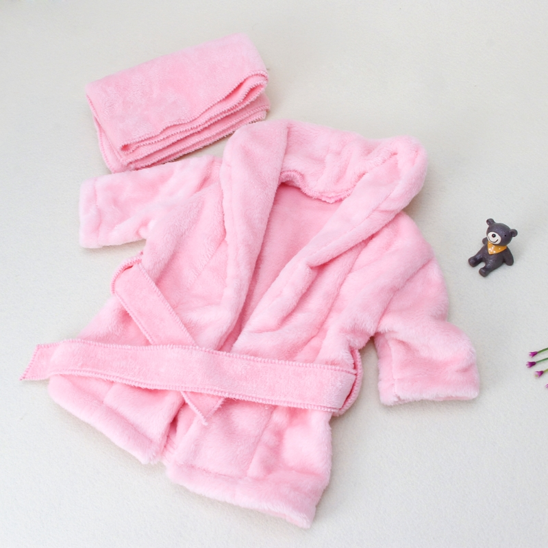 Bathrobe Baby-Cloth-Sets Newborn Photo-Shoot-Accessories 2pcs/Set Towel-Wrap Photography-Props