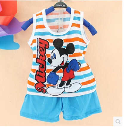 2019 ホット販売夏の子供の 2 個セット綿のスーツの子供セット子供服セット服セット