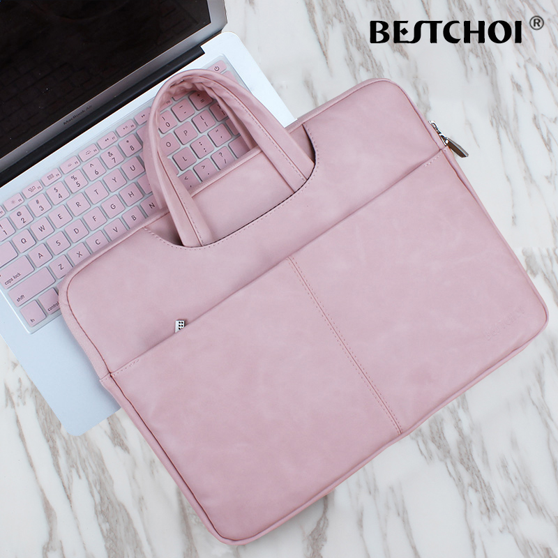 Pu Leather Laptop Breifcase Bag Case 14 15.6 Notebook Waterproof Laptop Cover for Macbook Air Pro Retina 13 15 Case Accessories