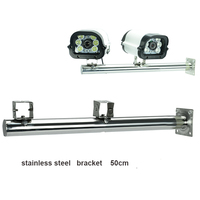 GZGMET 50 cm double cmaera stainless steel wall mount strong cctv surveillance system accessories camera bracket