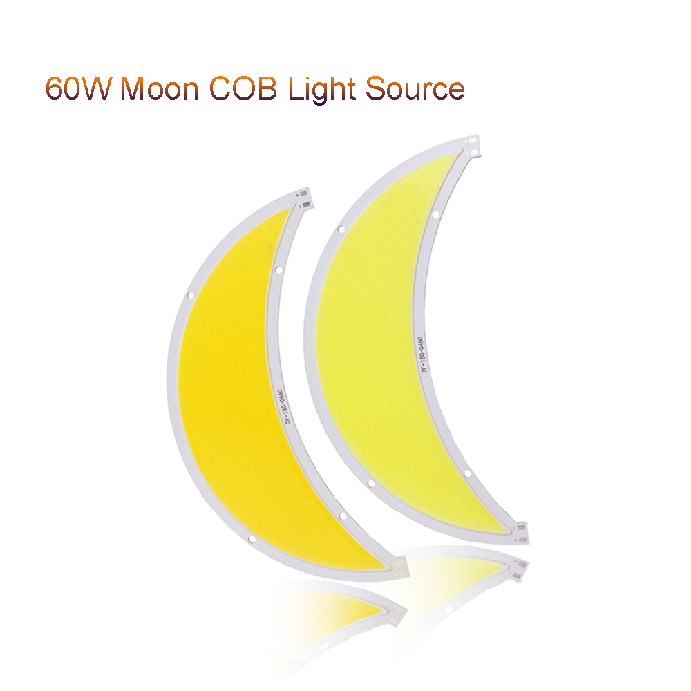 1pcs Moon COB LED Scorce module 60W Flip led panel lights DC12-14V L180MM street light  fish tank Garden Decor VR 200w 60w cob led panel lights moon sun flip led scorce module source dc12v 14v used for street light diy light fast ship vr