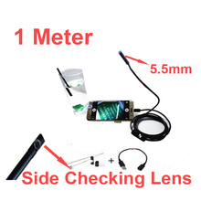 1M 640×480 5.5″diameter head endoscope camera Android OTG function video checking endoscope cctv camera side lens cctv accessory