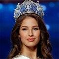 Lujo Miss Mundo Imitación Perla Hairwear Crystal Rhinestone Pageant Crowns and Tiaras Celada Accesorios Para el Cabello Vintage HG277