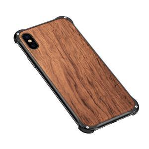 Image 4 - Iphone xs最大xr iphone x xsケースカバーハイブリッドウッド金属フレームバンパーバックケースカバーiphone 6 6s 7 8 プラス