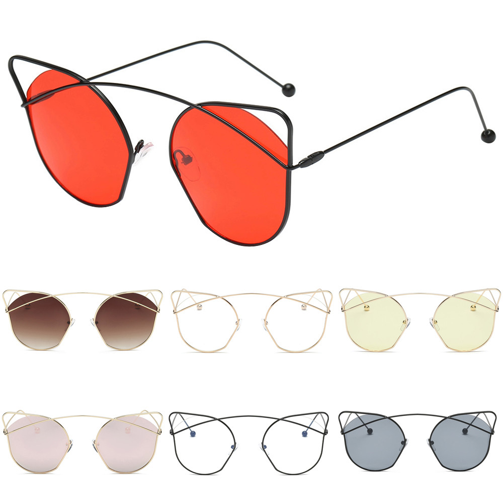 Women Unisex Sunglasses Fashion Cat Eyes Shades Acetate Frame UV Glasses Sunglasses gafas oculos des lunettes #15