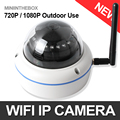 1.0MP 2MP Wifi Dome IP Camera Outdoor Vandalproof 3.6mm Lens Plug And Play Wireless IP Camera XMEye Security Cameras Onvif P2P