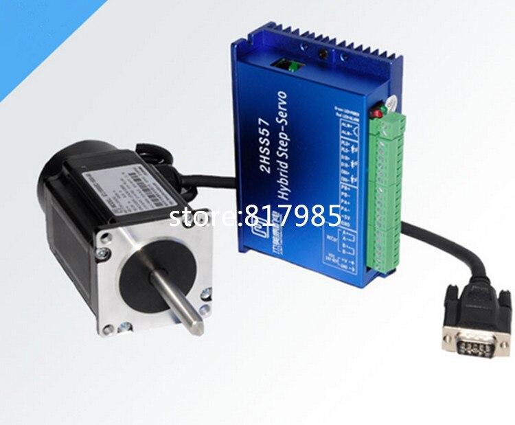 New 86 NEMA34 4.5NM 4A 1000 Encoder 86J1880EC-1000+2HSS86H closed loop Stepper Motor+Drive Kit Engraving Cutting machine