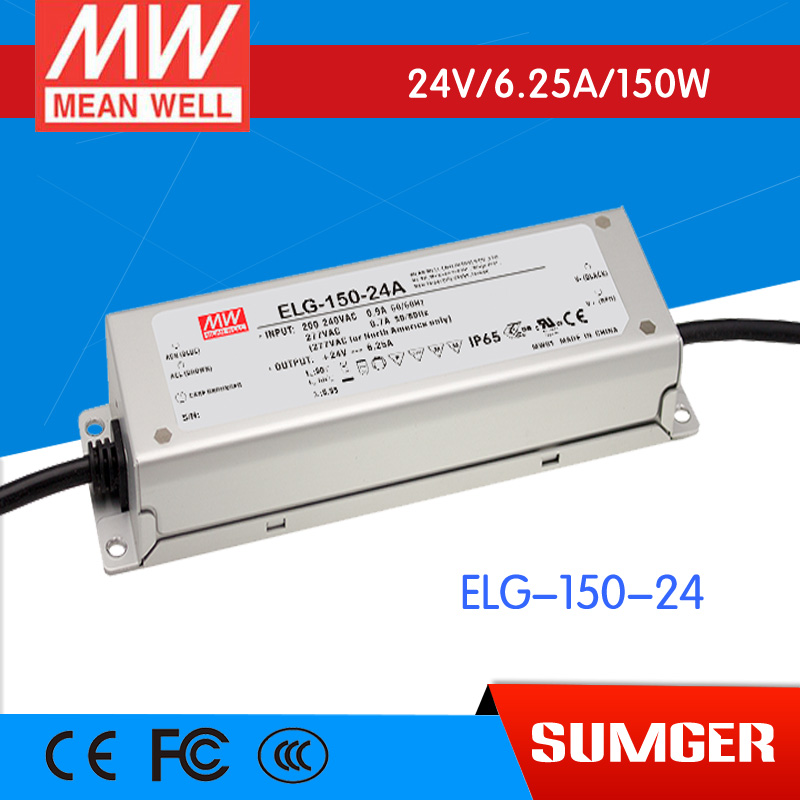 1MEAN WELL original ELG-150-24 24V 6.25A meanwell ELG-150 24V 150W Single Output LED Driver Power Supply [sumger2] mean well original elg 150 24da 24v 6 25a meanwell elg 150 24v 150w single output led driver power supply da type