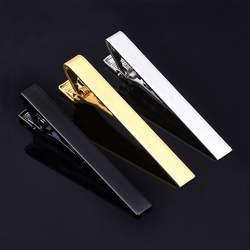 Высокое качество медь) зажим для галстука для мужчин простой цвет серебристый, золотой Бизнес жених Брак Мода профессионально безопасности