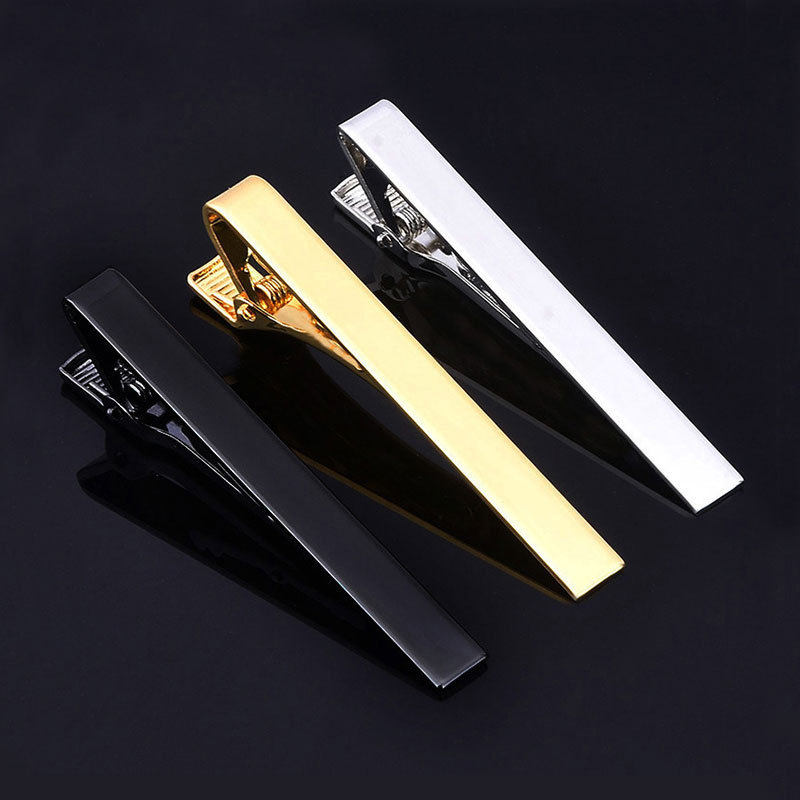 2019 Rushed High Quality Copper) Tie Clip Men Simple Silver Gold Business Groom Marriage Fashion Vocational Security Wholesale