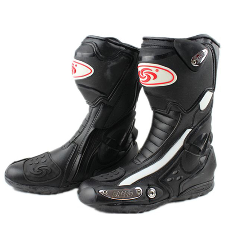 Riding Tribe SPEED Off Road Racing Motorcycle Boots Microfiber Leather Motorbike Motocross Motor Bike Motorcycle Boots Shoes scoyco motorcycle riding knee protector extreme sports knee pads bycle cycling bike racing tactal skate protective ear