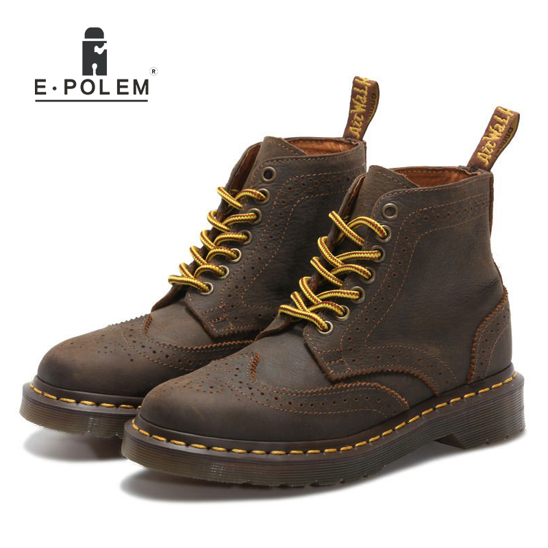 2018 Vintage Women Motorcycle Riding Boots Lady British Style Lace-Up Low Heel Boots Shoes Genuine Leather Ankle Brown Boots2018 Vintage Women Motorcycle Riding Boots Lady British Style Lace-Up Low Heel Boots Shoes Genuine Leather Ankle Brown Boots
