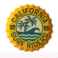 35 cm Californie Surf Coureurs Vintage Tin Signes Bar Salon Culb Décoration murale En Métal Bière Bouteille Caps Affiche Plaque Signes pour Bar