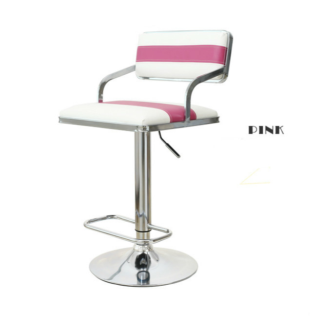 Quality Lifting Swivel Bar Chair Rotating Adjustable Height Pub Bar Stool Chair Armrest High Density Sponge Simple cadeira in Office Chairs from Furniture