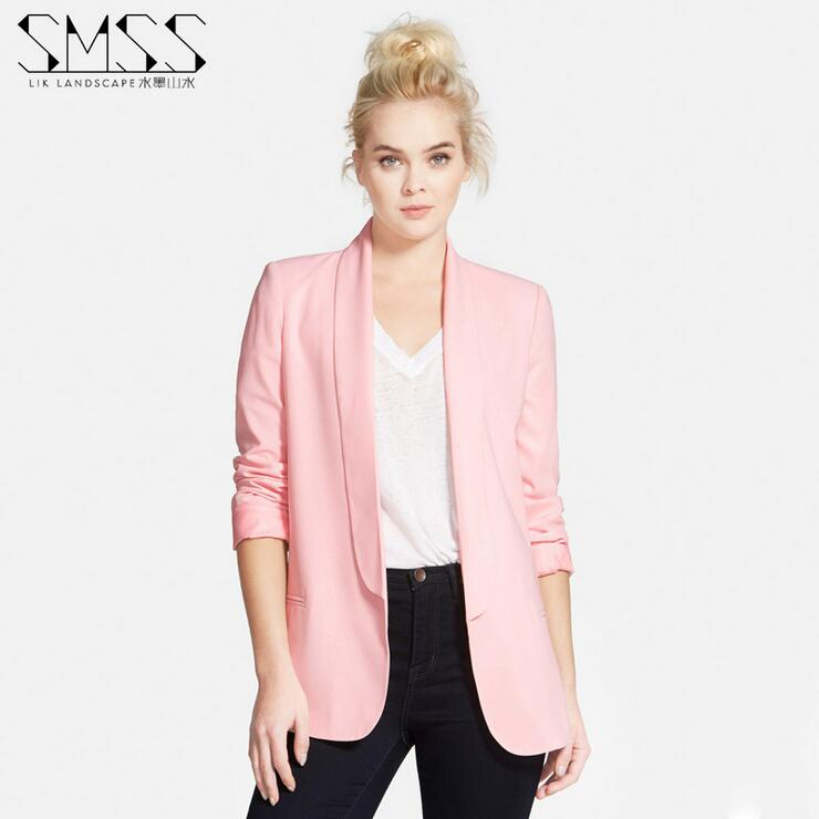 Xs Xxl 6 Size Women Blazer White Black Pink Red Rose 5