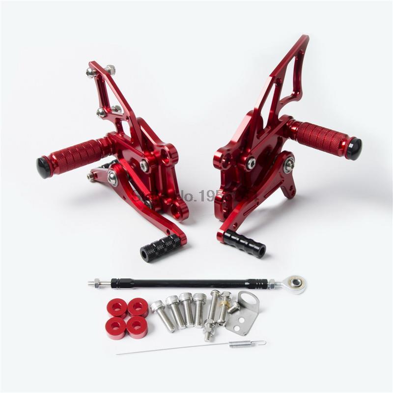 BELLE CNC CNC Réglable montages pour siège arrière repose-pieds Repose-pieds Repose-pieds Pour Yamaha YZFR25 YZFR3 2014 2015 2016 YZF R3 R25