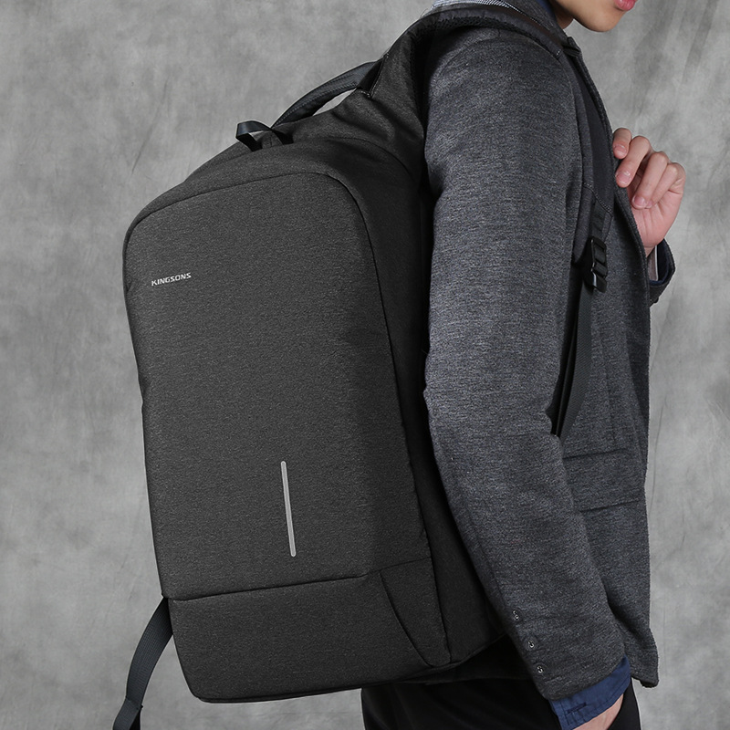 Image 5 - Kingsons Backpack Men 15.6 Inch Laptop Anti Theft Bagpack USB Charging Mini Back Pack for Teenager Boys Big School Business Bag