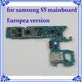 100% testado bom trabalho europea versão motherboard original para samsung galaxy s5 g900f placa lógica mainboard com batatas fritas