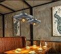 Американский кантри чердак скандинавский стиль индустрия НЛО Железный Ретро подвесной светильник для ресторана Алюминиевый горшок подвес...