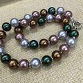 4 цветовой гаммы DIY идеальный круглый 12 мм sea shell матери перл лето ожерелье классический стиль Моды изящные ювелирные Популярны для женщины