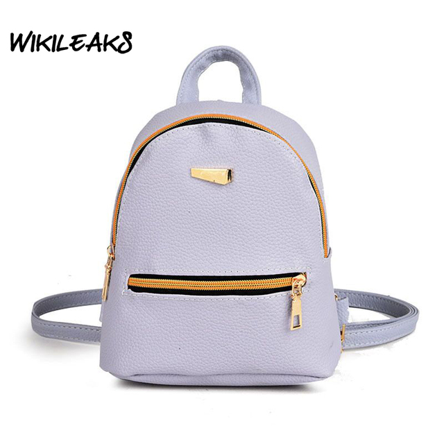 WIKILEAKS Women Backpack Small Shoulder Bag Korean Fashion Mini ...