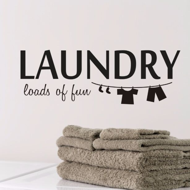 Home Decor Laundry Wall Decal Removable Room Sticker Quote Art Mural Vinyl Wallpaper Ay070