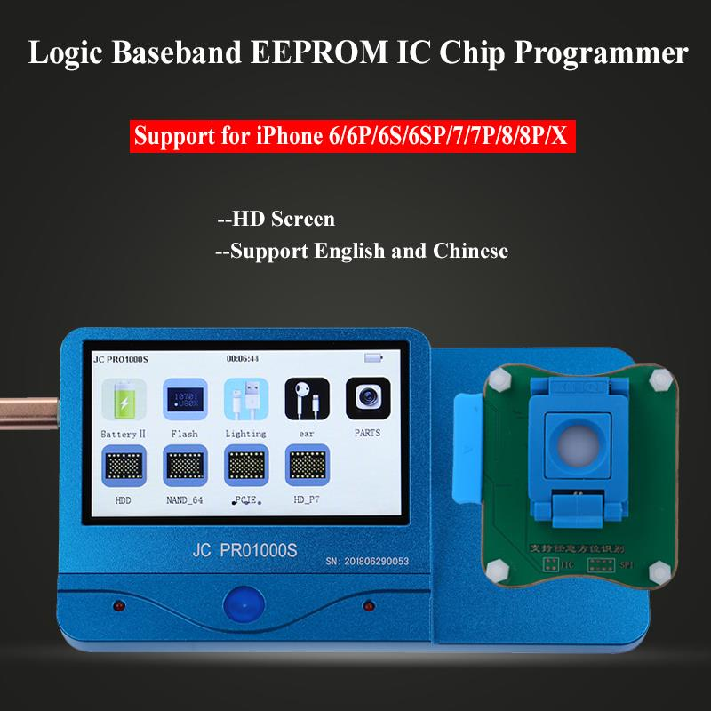 JC Pro1000S Multi-Functional Baseband Logic EEPROM IC Chip Read Write Tool for iPhone 6 6P 6S 6SP 7 7P 8 8P X Phone Repai ToolsJC Pro1000S Multi-Functional Baseband Logic EEPROM IC Chip Read Write Tool for iPhone 6 6P 6S 6SP 7 7P 8 8P X Phone Repai Tools