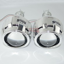2 pc bi xenon objectif avec Linceul 2.5 pouces projecteur objectif pour H4 H7 Bixenon lentille bi-xénon H1, H11, 9005,9006 voiture hid phare