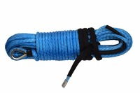 Blue 10mm 30m Synthetic Winch Rope Winch Cable Boat Winch Rope Plasma Rope UTV Winch Accessories