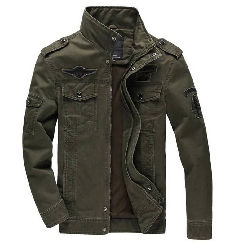 Pilot Jacket Coat Outwear Embroidery Air-Force Army Military Male Tactical Men Autumn
