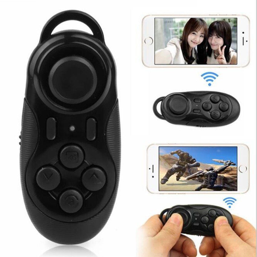 Mini Wireless Portable Bluetooth Gamepad Controller Joystick Selfie Shutter Remote for IOS Android VR