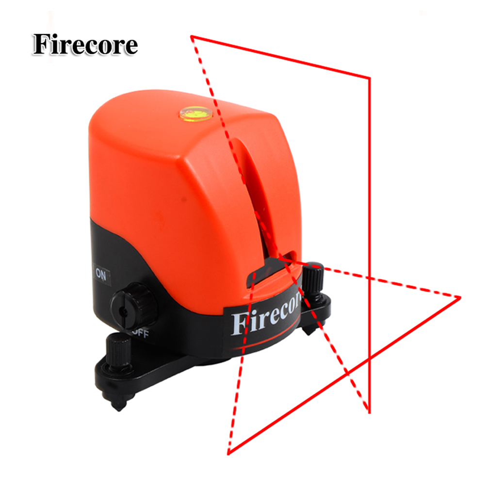 Firecore YD-810 2 Lines Laser Level Self-leveling(3 degrees) Horizontal And Vertical Cross Red Line Levels Measuring Tool