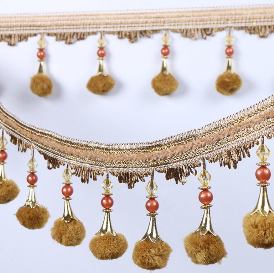 11 5meter Diamonds Bead Pompon Pendant Hanging Lace Trim