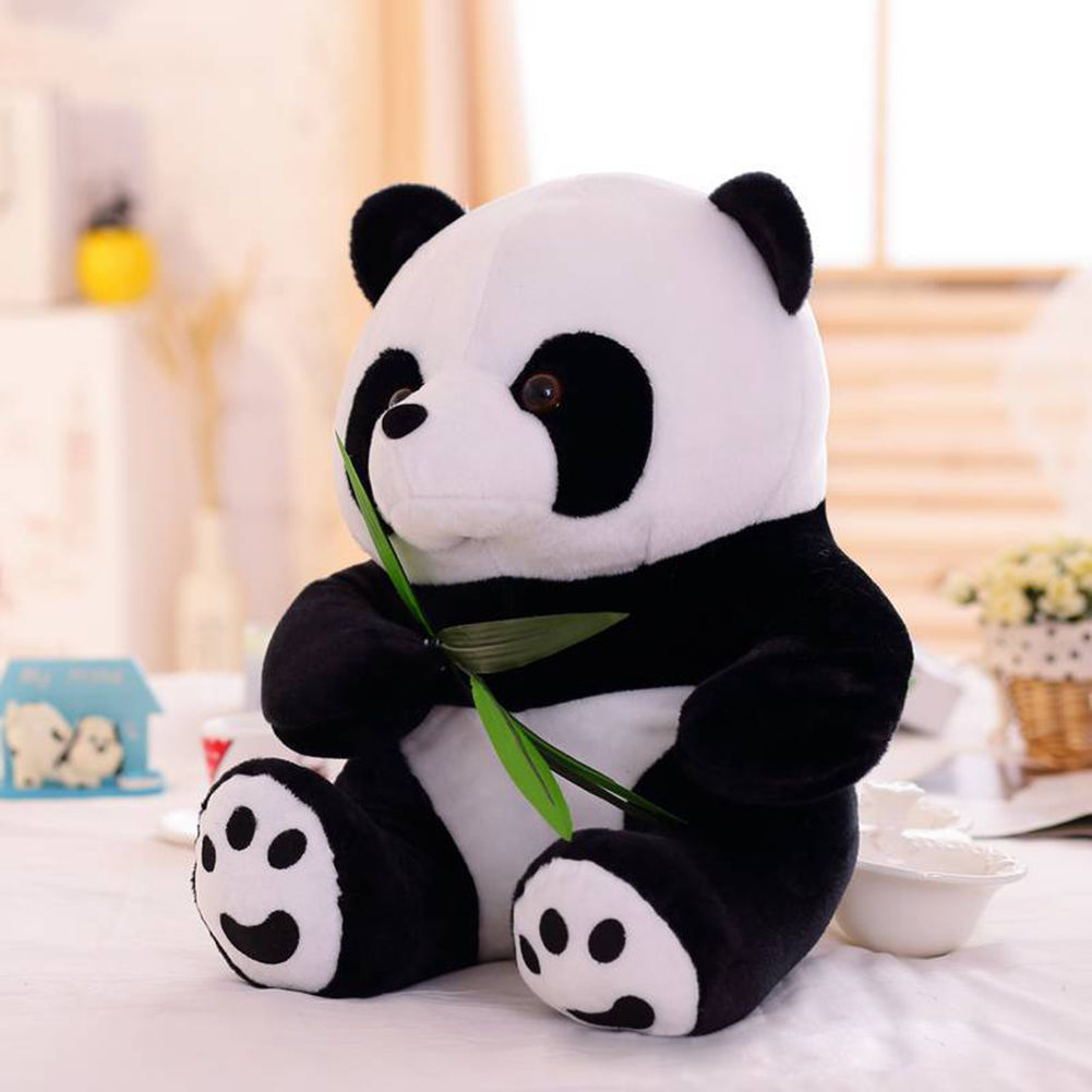 10 Inches Cute Panda Bear Stuffed Animal Plush Soft Toys Standing Kids Doll Games Gift
