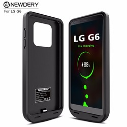 شاحن الهاتف ضئيلة حقيبة لجهاز LG G6/G6 + عالية السعة غطاء شحن البطارية الناتج 5 فولت/2A حقيبة لجهاز LG الطاقة g6 زائد الأسود