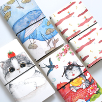 Quality PU Leather Cute Kawaii Korean Travelers Notebooks And Journals Planner