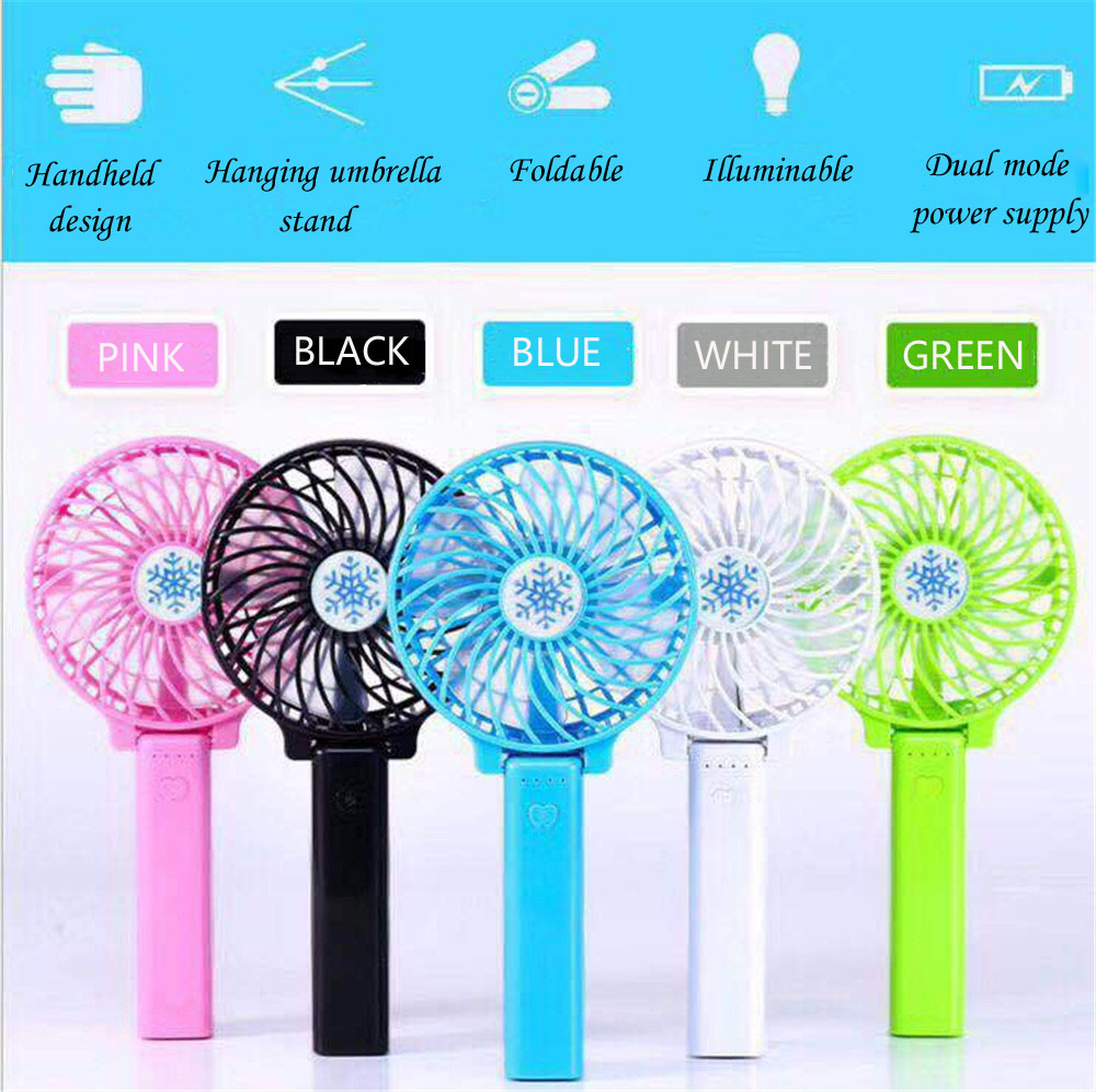 2018 Portable Handheld USB Charge Mini Electric Fan Rechargeable Fans USB Portable Desk Mini Fan for Office travel outdoor mini portable usb rechargeable hand warmer heater cartoon pig for travel outdoor