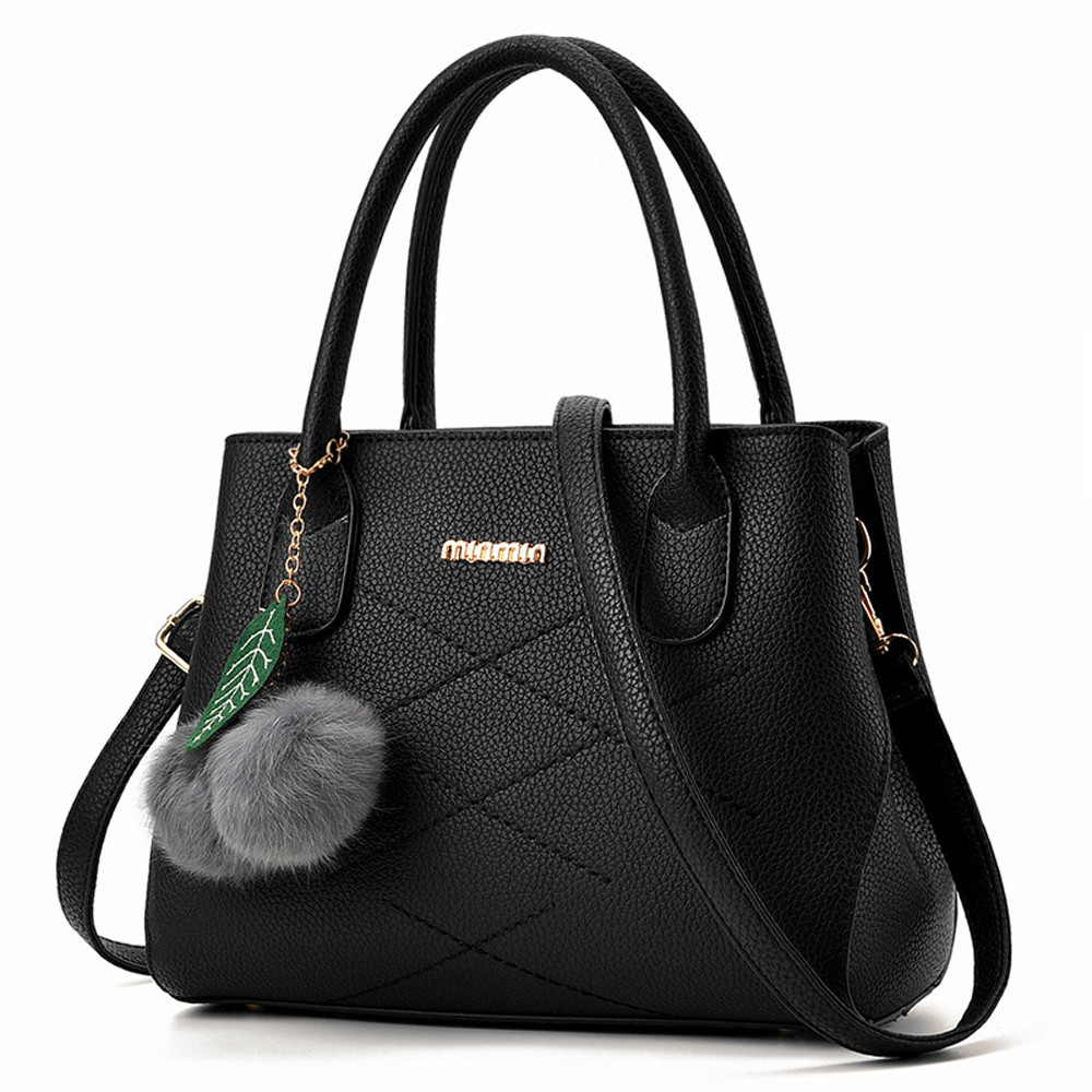 Luxury PU Leather Fake Designer Handbag With Hairball New Top Hot Sell Fashion Handbag Bag Women Crossbody Bags For Women #YL5 handbag