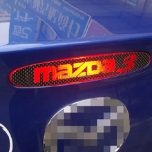 Newest Car Styling Car Cover Car Protector Carbon Fiber Vinyl Sticker Brake Light Hatch Back Decoration for Mazda 3