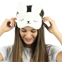 Cute Bunny Rest Sleeping Face Eye Mask Comfortable and Soft Blindfold Eyeshade Traveling Relax Sleep Eye Aid For Sleep eyeshade ice eyeshade sleep mask shading breathable goggles men and women cute expression ice pack eye protective antifaz para dormir