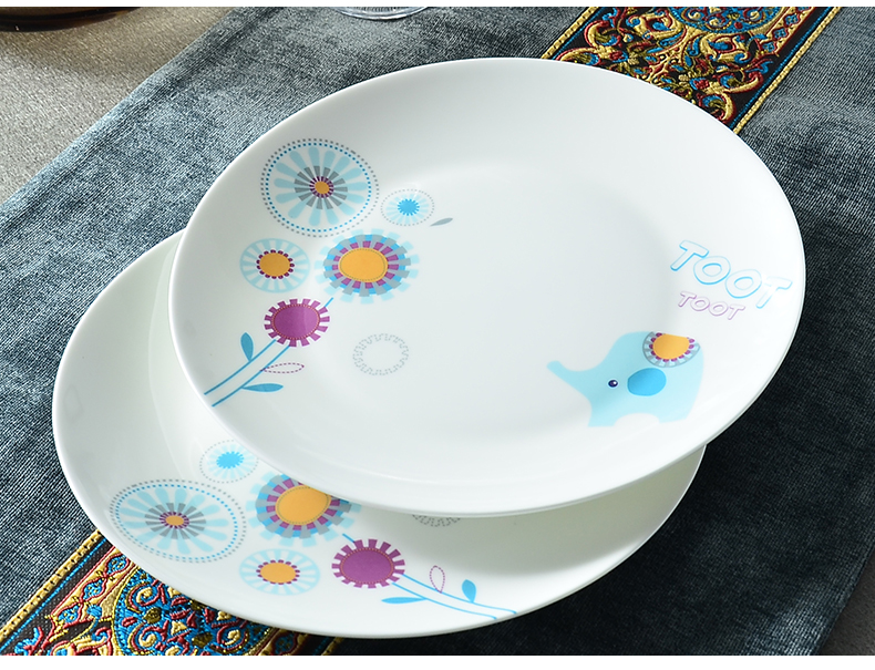 8inch Bone China Charger Plates Funny Cartoon Design
